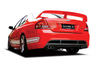 BA-BF XR6 turbo, F6, XR8 and GT Cat back Exhaust System Stainless Steel duel 2.5 inch with quad tips