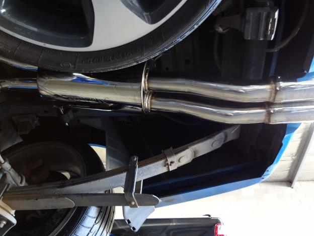 BA-BF XR8 & BA GT, cat back Exhaust System Mild Steel duel 2.5 inch
