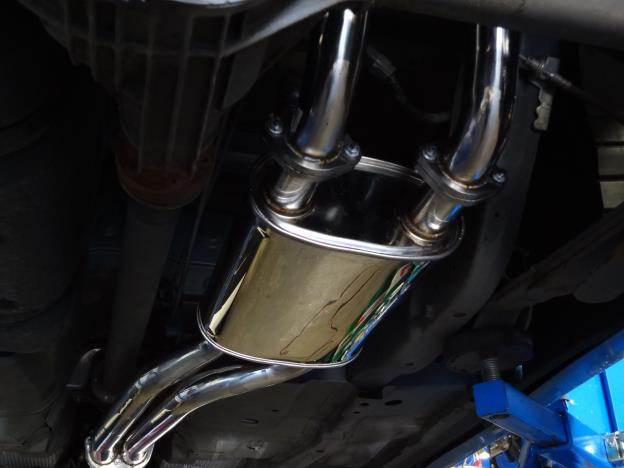 FG 5.4 lt XR8 & GS ute Cat back exhaust system Polished Stanless steel