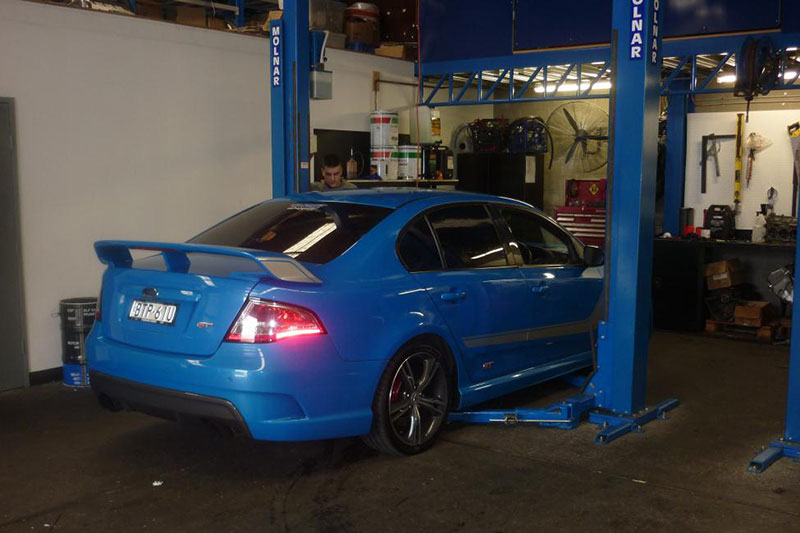 Intune Motorsport, Ford servicing for late model Falcons, Sydney